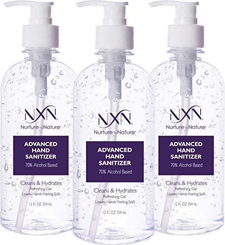 NxN Magnificence Superior Hand Sanitizer Refreshing Gel, with 70% Alcohol, 36 Complete FL OZ – three Pack of 12 OZ (354ml Every)