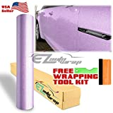 EZAUTOWRAP Free Tool Kit Purple Premium High Gloss Glitter Sparkle Metallic Car Vinyl Wrap Sticker Decal Film Sheet Bubble Free Air Release Technology - 12'X60' (1FT X 5FT)