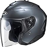 HJC IS-33 II Open-Face Motorcycle Helmet (Anthracite, X-Large)