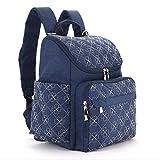 Diaper Bag Backpack With Baby Stroller Straps By HYBLOM, Stylish Travel Designer And Organizer For Women & Men, 12 Pockets, Blue