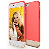 iPhone 6 Case, Maxboost [Vibrance Series] Protective Slider Case for Apple iPhone 6 (4.7) SOFT-Interior Scratch Protection with Vibrant Trendy Color - Italian Rose/Champagne Gold