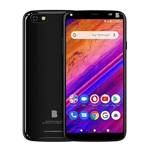 BLU Studio Mega 2019-6.0' Display Smartphone, 32GB+2GB RAM- Black
