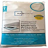 Waterproof Fitted Vinyl Twin Mattress Protector - 39 x 75 x 12