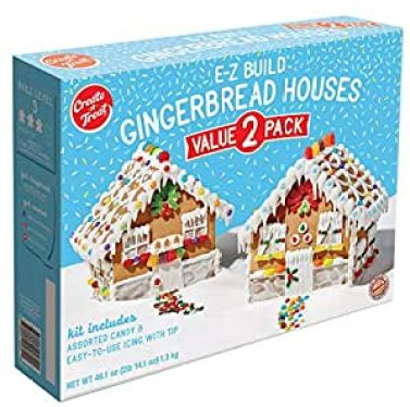 Amazon.com : Create-A-Treat E-Z Build Gingerbread Houses, Value 2-Pack, 46.1 ounces : Grocery & Gourmet Food