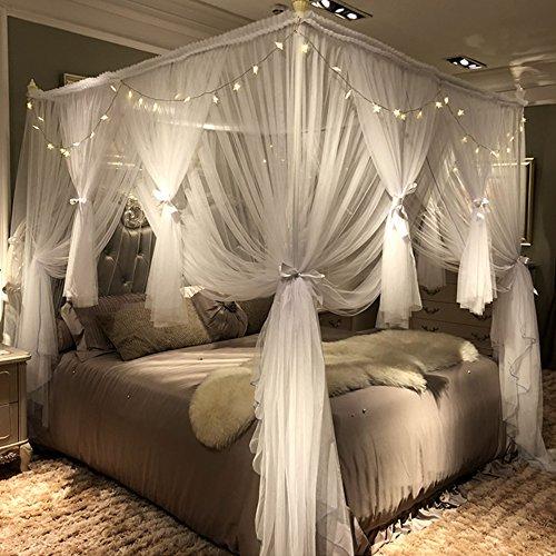 four post canopy bed curtain set goldilocks effect