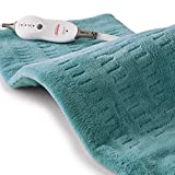 Sunbeam Heating Pad for Pain Relief | King Size SoftTouch, 4 Heat Settings with Auto-Off | Teal, 12-Inch x 24-Inch