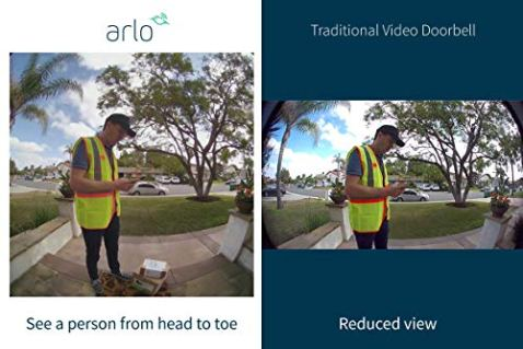 Arlo-Video-Doorbell-HD-Video-Quality-2-Way-Audio-Package-Detection-Motion-Detection-and-Alerts-Built-in-Siren-Night-Vision-Easy-Installation-Existing-Doorbell-Wiring-Required-AVD1001