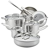 Breville 32064 10 Piece Thermal Pro Clad Cookware Set, Large, Stainless Steel