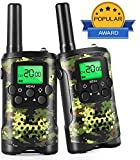 Walkie Talkies for Kids, 22 Channel 2 Way Radio 3 Mile Long Range Kids Toys, Best Gifts & Top Toys for Boy & Girls Age 3 4 5 6 7 8 9 for Outdoor Adventure Game - Kids Walkie Talkies