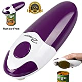 Kitchen Restaurant Mama Manual Automatic Safety Electric Can Opener& Bangrui Professional Electric Can Opener.One-touch switch .Smooth can edge.Being friendly to left-hander and arthritics! (Purple)
