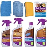 Rejuvenate Furniture Cabinet and Leather Restorer Kit Cleans Repairs Restores Protects Polishes Cabinets, Furniture and Leather Items - 15 Piece Kit