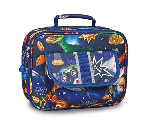 Bixbee Little Boys' Meme Space Odyssey Lunchbox, Blue, None