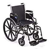 Invacare Tracer SX5 Wheelchair, with Desk Length Arms and T93HCP Composite Footrests with Heel Loops, 22' Seat Width, 1193446