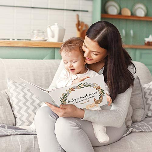 Beautiful Baby Memory Book for Modern Families - First 5 Years Gender Neutral Journal Records All Your Baby Girl or Boy's Milestones - Scrapbook/Keepsake Album To Collect Photos and Precious Memories