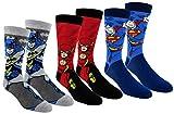 DC Comics Justice League Mens Casual Crew Socks 2 & 3 Pair Packs (One Size, JL Multi-color)