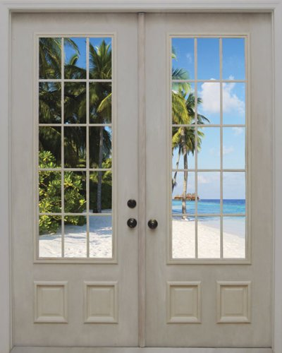 JP London MD4A156 7.5-Feet High by 6-Feet Wide Removable In-Trance Door Mural