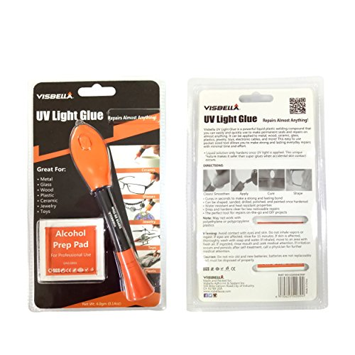 UV Light Glue Kit Clear Adhesive Liquid Plastic Welder 5 Seconds Repair Almost Anything