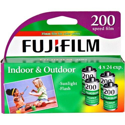 Fujifilm Fujicolor 200 Speed 24 Exposure 35mm Film – 4 Pack (Discontinued by Manufacturer)