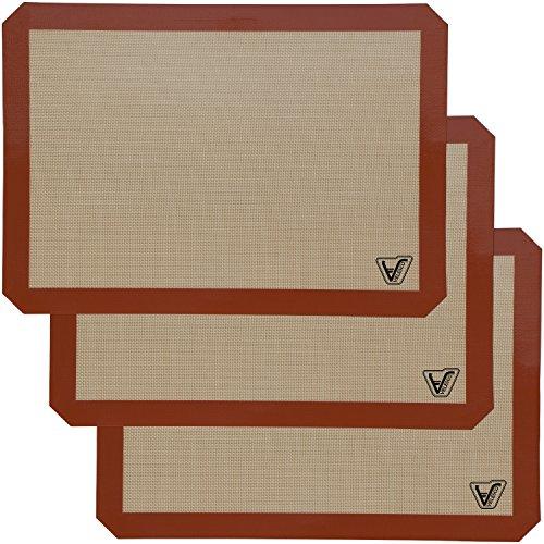 Silicone Baking Mat - Set of 3 Half Sheet (Thick & Large 11 5/8