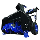 Snow Joe ION8024-XR Cordless Two Stage Snow Blower   24-Inch   80 Volt   2 x 5 Ah Batteries   4-Speed   Headlights
