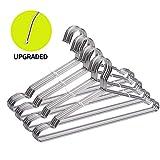 FSUTEG Coat Hangers, 40 Pack Wire Hangers Stainless Steel Metal Hangers Heavy Duty Hangers, Ultra Thin Clothes Hangers 16.5in