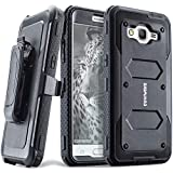 Galaxy J2 Prime/Grand Prime Plus/Go Prime/Grand Prime/G532 Case - [Aegis Series] Case [Built-in Screen Protector] Heavy Duty Full-Body Rugged Holster Armor Case [Belt Clip][Kickstand], Black