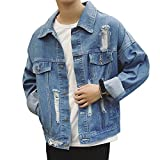 Product review for Men Casual Classic Batman Denim Jacket Loose Ripped Jean Jacket