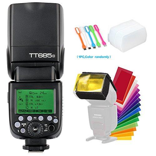 Godox TT685O TTL Camera Flash speedlite High Speed Sync 1/8000s GN60 2.4G for Olympus Panasonic camera+Diffuser & Filter +USB LED Free Gift