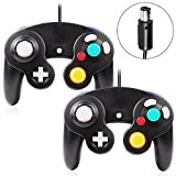 VOYEE Gamecube Controller - 2 Pack Classic Wired Controllers Gamepad Compatible with Wii Nintendo Gamecube (Black)