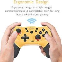 Decdeal Kablosuz BT Gamepad Oyun Joystick Denetleyicisi, Switch Pro Gamepad Anahtar Konsolu ile Uyumlu 6 Eksen Saplı 16