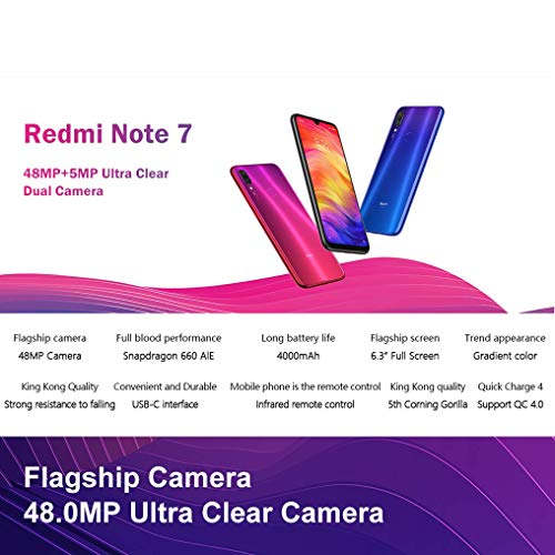 Xiaomi Mi Redmi Note 7 Blue 6,3″ 64gb/4gb Dual Sim