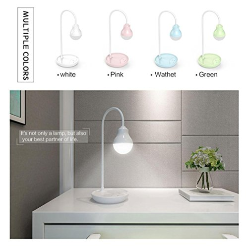 LiPing 3W USB Adjustable LED Desk Lamp Work Light-Touch Sensitive Control10 Color Temperatures (A)