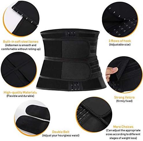 SIANCUN Waist Trainer for Women&Men Workout,Corset Waist Trainer for Women Weight Loss Everyday Wear,Neoprene Sweat Waist Cincher Trimmer Slimmer Body Shaper Belt 3