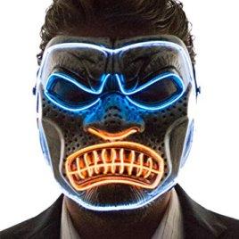 Neon Nightlife Men's Light Up Gorilla Mask