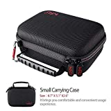 Small Case for GoPro Hero8 Hero7 Black,6,5, 4, 3+, 3,Hero(2018) HSU Carrying Case for Action Cameras and GoPro Accessories(Small Size Red)