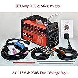 200 Amp TIG Stick ARC DC Inverter Welder 110/230V Welding Soldering Machine New