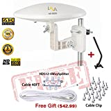 LAVA HD8000 Omnidirectional HD TV 4K Omnipro TV Antenna 360 Degree OmniPro HD-8000 + Installation Kit & TV Antenna Jpole