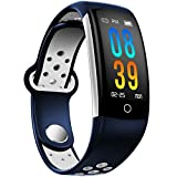 IP68 Fitness Tracker Blood Pressure Heat Rate Monitor Smart Watch Blood Oxygen Sleep Monitor Activity Tracker Pedometer Watch for Women Men Kids