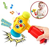 VATOS Baby Toys Light& Musical Baby Hammer Toy for 12 to 18 Months up | Infant Toys Funny Changeable Eyes Baby Hammer Toddler Toys for 1 Year Old + | 12 Months + Baby Toys