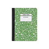 Staples Composition Notebook, Wide Ruled, 9-3/4' x 7-1/2', Green