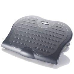 Kensington Adjustable Ergonomic Foot Rest – SoleSaver under desk foot rest for improved posture, siatica and orthopedic relief – Grey (56152)