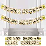 Big Dot of Happiness Sukkot - Sukkah Jewish Holiday Bunting Banner - Party Decorations - Happy Sukkot Chag Sameach