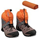MAGARROW Gaiters for Hiking and Cooling Towel (11.8' × 37.8') (Orange & Gray)