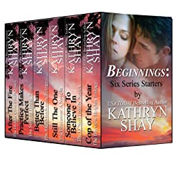 NEW YORK TIMES bestselling author Kathryn Shay is offering six of her award winning novels—the first book in each of her series—together in one boxed set. Try the novels reviewers have called groundbreaking, controversial and realistic contemporary r...