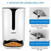 WOPET-Pet-FeederAutomatic-Dog-and-Cat-Feeder-Food-Dispenser-for-Cats-and-Dogs-Features-Distribution-Alarms-Portion-ControlIR-DetectVoice-Recorder-Programmable-Timer-for-up-to-4-Meals-per-Day