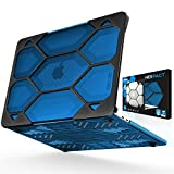 iBenzer Hexpact Heavy Duty Protective Case for MacBook Pro 13 inch with/Without Touch Bar A1989/A1706/A1708 Released 2018 2017 2016, Crystal Blue, LC-HPE-T13CYBL-B