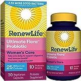 Renew Life Women's Probiotic - Ultimate Flora  Probiotic Women's Care, Shelf Stable Probiotic Supplement - 25 Billion - 30 Vegetable Capsules (Packaging May Vary)