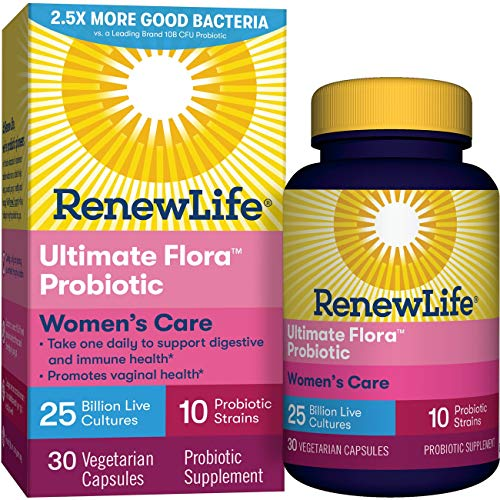 Renew Life Women's Probiotic - Ultimate Flora Women's Care  Probiotic Supplement - Gluten, Dairy & Soy Free - 25 Billion CFU - 30 Count (Pack of 1)