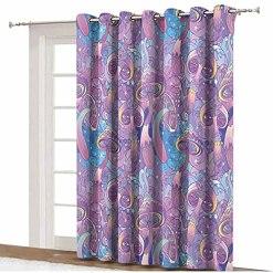 Lyzelre Purple Blackout Curtains