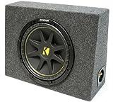 ASC Package Single 10' Kicker Sub Box Regular Cab Truck Subwoofer Enclosure C10 Comp 300 Watts Peak